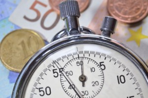 Cronómetro con dinero